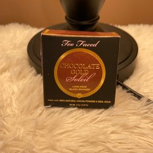 Too Faced Chocolate Gold Soleil Bronzer Travel New